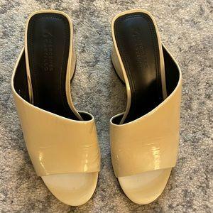 Mercedes Castillo Patent Leather Slides